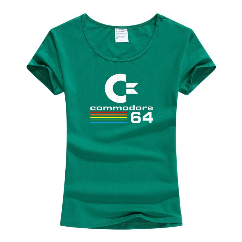 Лето 2017 г. Commodore 64 футболка C64 SID Amiga Ретро 8-бит Прохладный Дизайн винил футболка Женская одежда короткий рукав