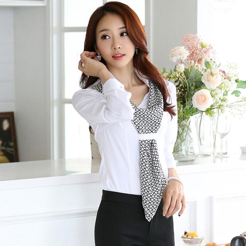 High quality new fashion women 39 s shirt slim formal for Womens white shirts high quality