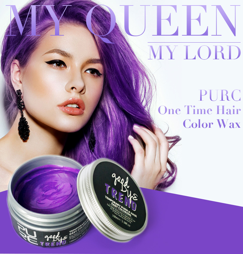 Purc Amazing Temporary Hair Dye Popular Purple Color And Blue Color