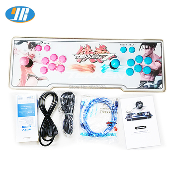1299 Games 5S Arcade Game Copy Sanwa Joystick Console With Push Buttons Acrylic Panel+ Iron Box