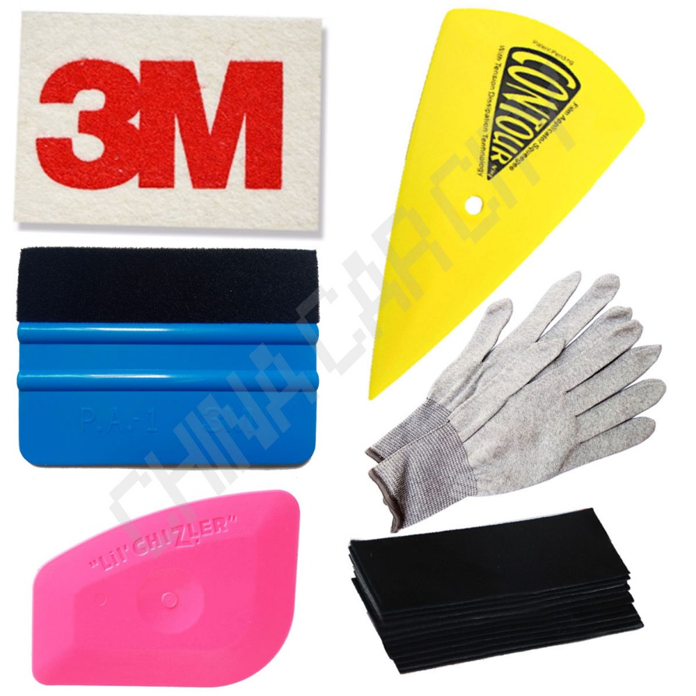 3m wool blue polygon squeegee felt gloves car window tint tools kit for auto film tinting