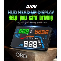 Hot selling Q700 Multi functions Version Universal 5.5 Inch Screen HUD Car Digital Display