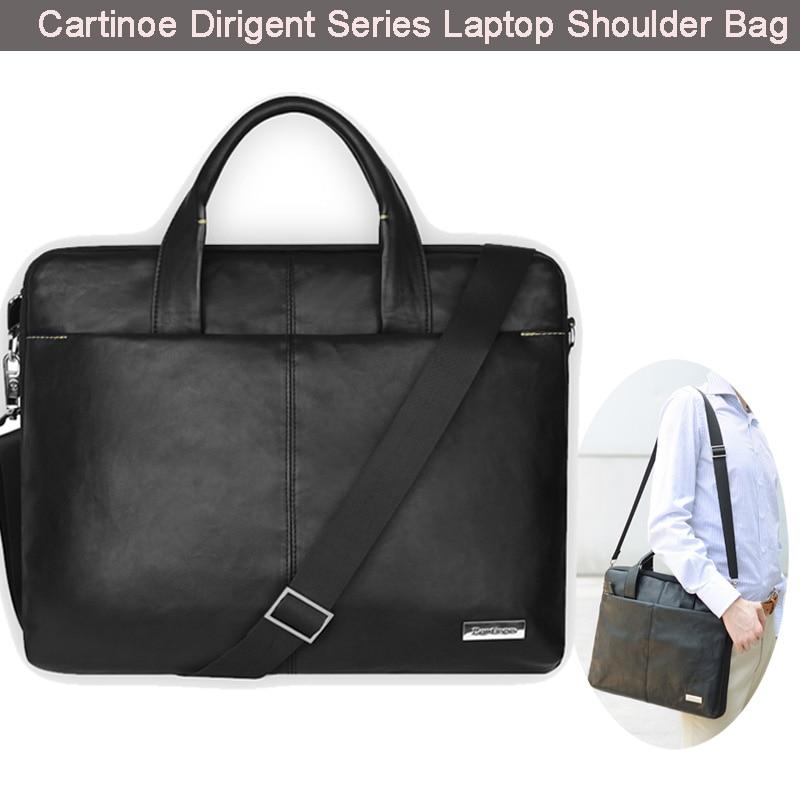ФОТО Cartinoe 15.6'' Stylish Pu Leather Laptop Messenger Shoulder Bag Sleeve Handle Carrying Case for Chromebook Notebook Ultrabook