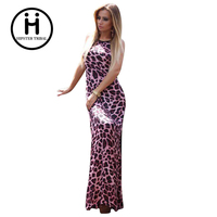 Sexy Pink Club Backless India Bandage Leopard Dress For Women Summer 2016 Female Polka Dot Plus