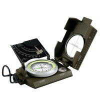 VILEAD Multi function Aluminum Alloy Outdoor Camping Compass Map Ruler Flip Climbing Cover Compass Outdoor Sports Giving Gifts