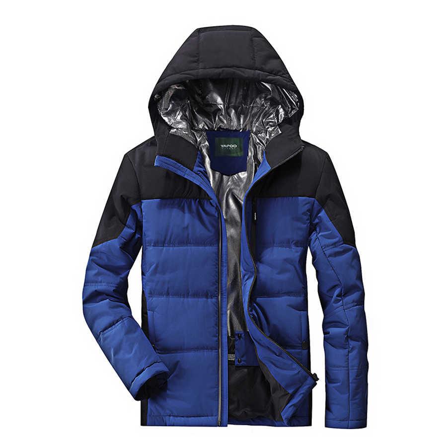 ブランド冬のジャケットの男性パーカーコートフード付き厚く暖かいメンズ冬のパーカー男性ウインドブレーカーパーカー Chaquetas Hombre ビッグサイズ M-4XL