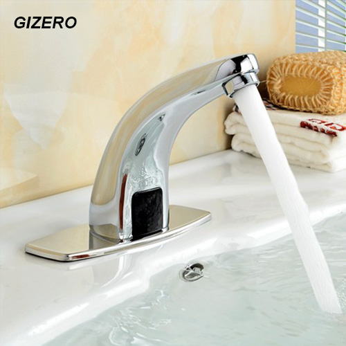 Luxury Chrome Faucet Brass Material Basin Automatic Faucet Touchless Taps Deck Mounted Hot and Cold Sensor Faucets Crane ZR1021 цены