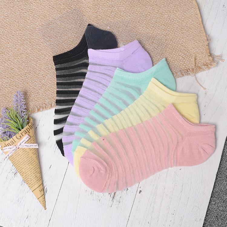 Sexy Lace Mesh Silk Fishnet Socks Fiber Transparent Stretch Elasticity Ankle Net Yarn Thin Women Cool Socks 1pair=2pcs Ws407