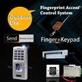 Teclados de Controle de Acesso Por Impressão Digital DIY Eletrônico Uso Ao Ar Livre Sistema de Segurança Porta-aberto Acesso 500 Usuários Operação Fácil