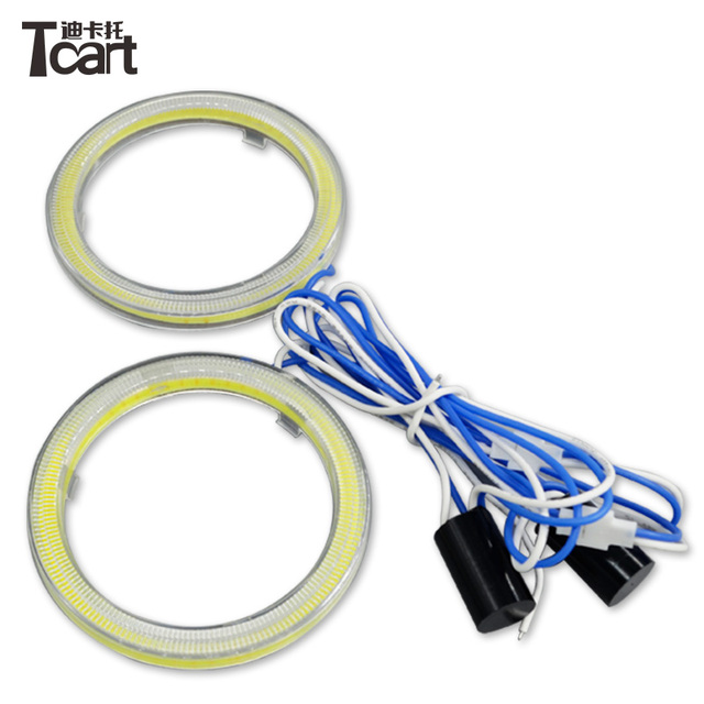 Tcart 90mm Dual color angel eyes ring cob light led cob angel eye ...