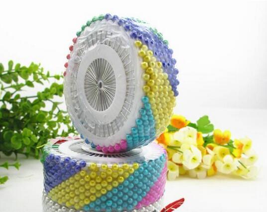 35mm 480 Pcs Multicolore Tête Ronde Couture Perle de Faux Décoration À Tricoter Aiguilles À Coudre Pin Pour La Maison Jardin Outil Accessoire