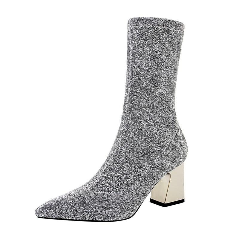 De Zapatos amp; Botas Elástico Mujeres Las D Calcetines Henlu} Xa881