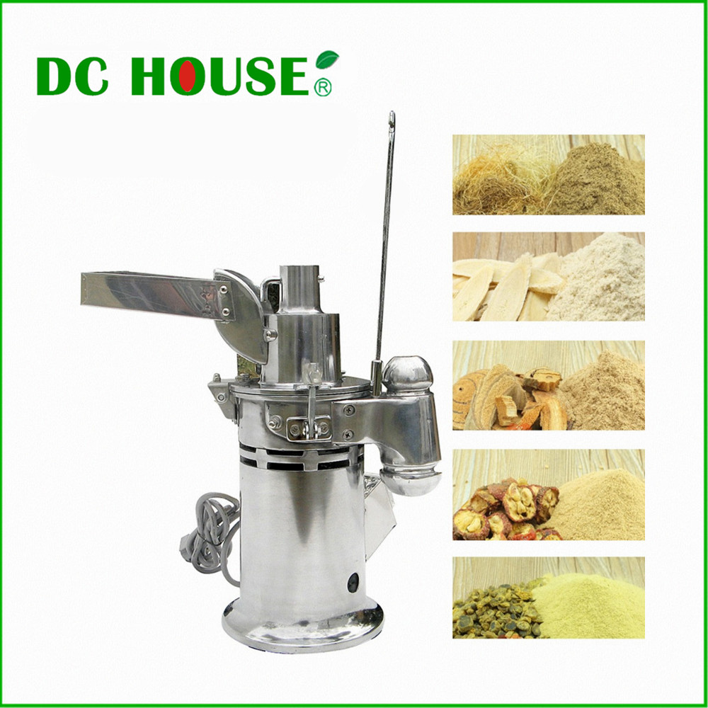 DC HOUSE DF 15 220V AC Auto Continuous Grinding Hammer Mill Herb Grinder Pulverizer Lab
