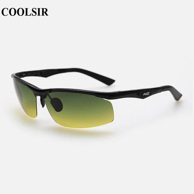 5e783f87d783 COOLSIR Men s Driving Sunglasses Aluminum Frame Polarized Sunglasses Car  C3009 Night Vision Goggles Anti-glare