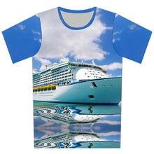 Joyonly Blue Sky Sea Luxury Cruise Ship Design Children s Fashion T-shirts  Boys Girls 2018 Summer Tops Tees Kids Casual Clothes 08770264bbb3