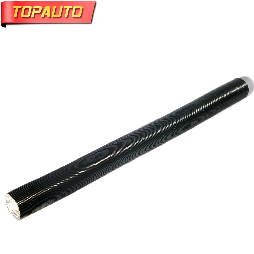 TopAuto 52mm Air Intake Pipe Outlet Pipe Aluminum Foil Corrugated For Webasto Parking Heater Machinery Truck Car Accessories