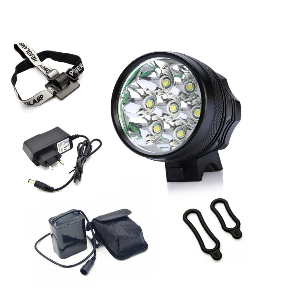 цена на 9800LM LED Camping Headlamp 3-Mode 7X CREE XML-T6 Bicycle Lamp Mountain Bike Headlight Cycling Light Bicicletas Accessories