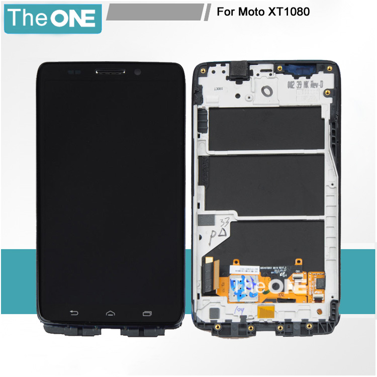5 PCS With frame FOR Motorola Droid Ultra XT1080 Maxx XT1080M LCD display+ Digitizer touch screen assembly