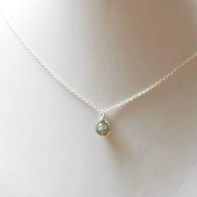 PINJEAS PINJEAS 925 necklaces Rainbow Natural Delicate Moonstone Crystal Stone handmade Pendant choker with Chain Jewelry