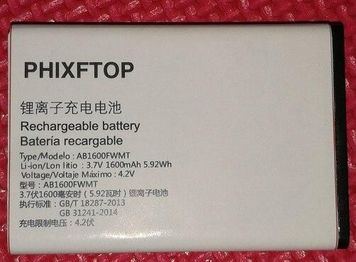 PHIXFTOP d'origine E116 batterie Pour Xenium CTE116 téléphone portable AB1600FWMT Batterie pour philips Smart Mobile téléphone 4.2 v