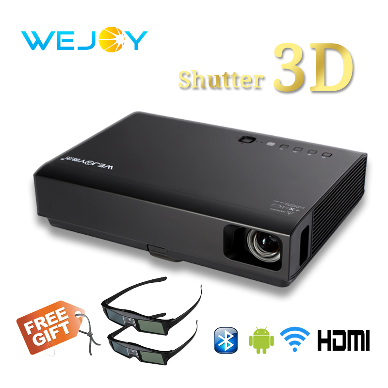 Wejoy 2019 Laser LED Projector 3D Full HD 1080P Home Theater Movie Portable DLP Android Projector 720P WIFI Bluetooth Beamer(China)