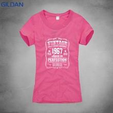 Print Tee Womans O Neck Funny Short Sleeve Made In 1967 50th Year Birthday Age