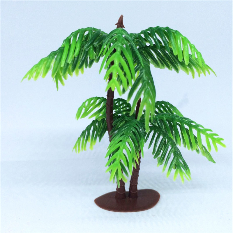 10pcs Artificial Plants Plastic Tree Branches Leaves 9cm large palm leaf Decor Home Garden Wendding Decoration landscape plants