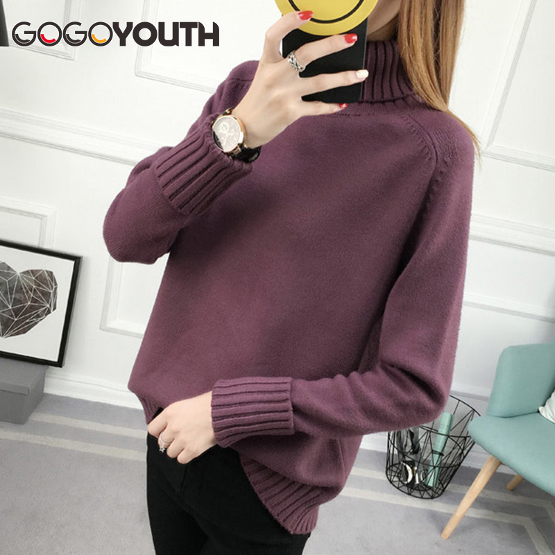 Surmiitro Winter Sweater Wanita Turtleneck 2018 Long Sleeve Tricot Wanita Sweater Dan Pullovers Perempuan rajutan Jumper Jersey Tops