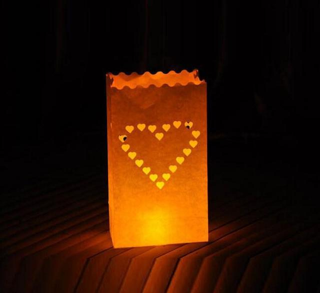 Heart Design Paper Lanterns