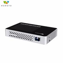 WOWOTO Home Mini pico projector 854*480 Resolution Wi-Fi Bluetooth LED Portable HD Beamer for Home Cinema Manual focus Optional
