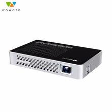 WOWOTO Home Mini pico projector 854*480 Resolution Wi-Fi  Bluetooth LED Portable HD for Cinema Manual focus Optional