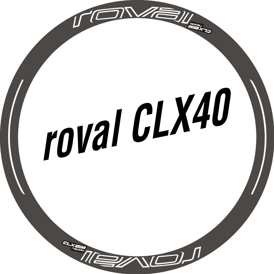 Two Wheel Set Stickers for Roval CLX 40 CLX40 Rim / Disc Brake Sticker for Road Bike Race Cycling Bickycle Decals