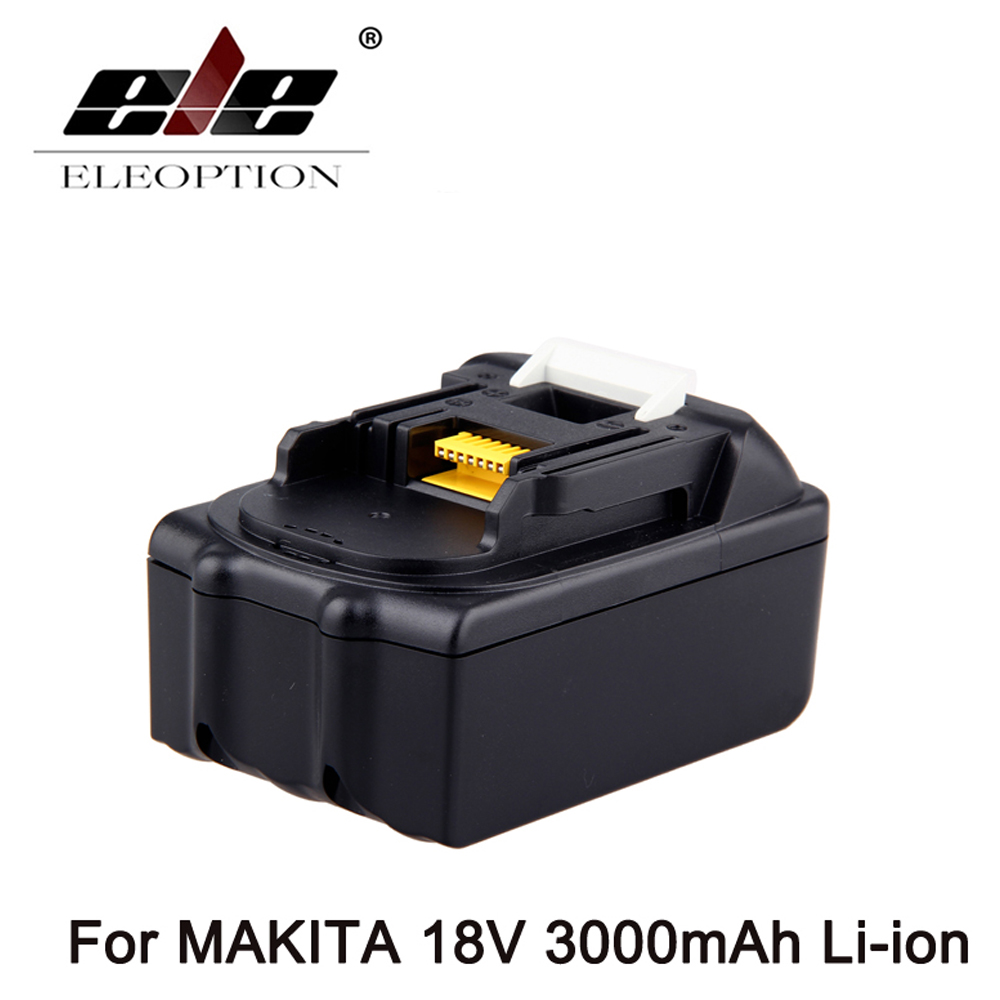 ELEOPTION for Makita 18V 3000mAh Power Tool Battery Pack for BL1830 BL1840 Recharegeable Battery Cordless Drill Li-ion Batteries power tool battery hit 25 2v 3000mah li ion dh25dal dh25dl bsl2530 328033 328034 page 1