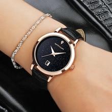 Сандалии бренд кварцевые часы дамы водонепроницаемый кожа часы моды романтичная женщина часы Relogio faminino Бесплатная подарочная коробка