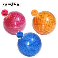 1 stücke Kinder Kreative Transparent Puzzle Spielzeug 3d Labyrinth Ball Kristall Kugel Würfel Labyrinth-Spiel Puzzle Spielzeug JM264