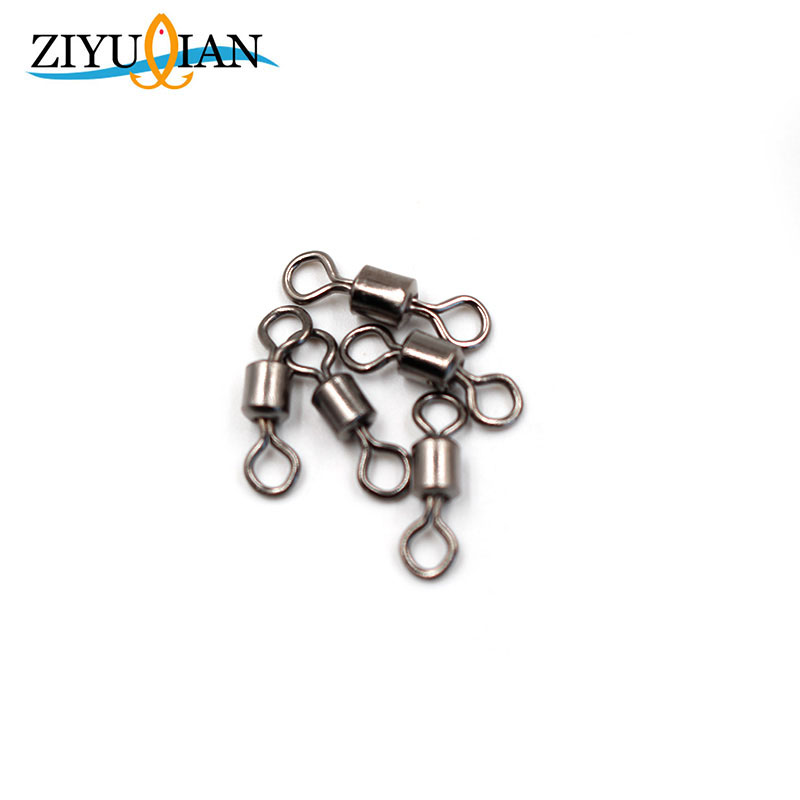 цены 20Pcs/lot Rolling Swivels Solid Rings Connector Stainless Steel Ball Bearing Lures Fishing Tackle Fishing Accessories