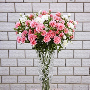 Image 2 - Artificial flowers cheap for christmas home wedding decor accessories diy Mothers Day gift fake plastic flowers silk carnation