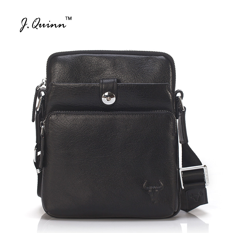 J.Quinn 2017 New Crossbody Bags for Men Top Cow Leather Shoulder Bag Cowhide Fashion Travel Mens Messenger HandBag Black Brown new style messenger bag men leather top grade all match hasp fashion retro cow leather men bag solid color small shoulder bags