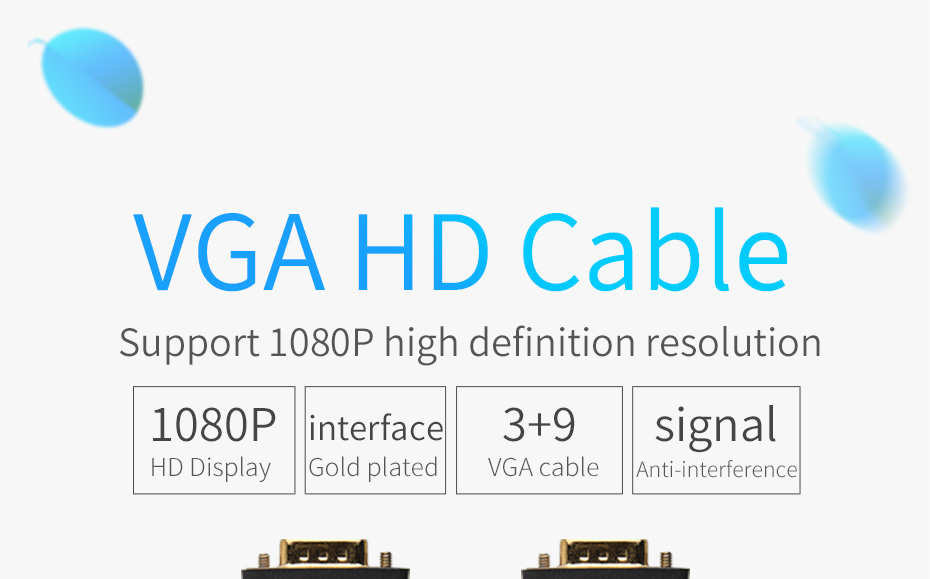 Nicol VGA Cable 1080P Male to Male Cable 1 5M HDTV PC TV Projector Monitor