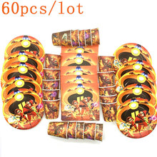 60PCS Disney The Incredible Theme Disposable Plates The Incredible 2 Theme Party Napkins The Incredible 2 Theme Disposable Cups the incredible transformation of gregory todd