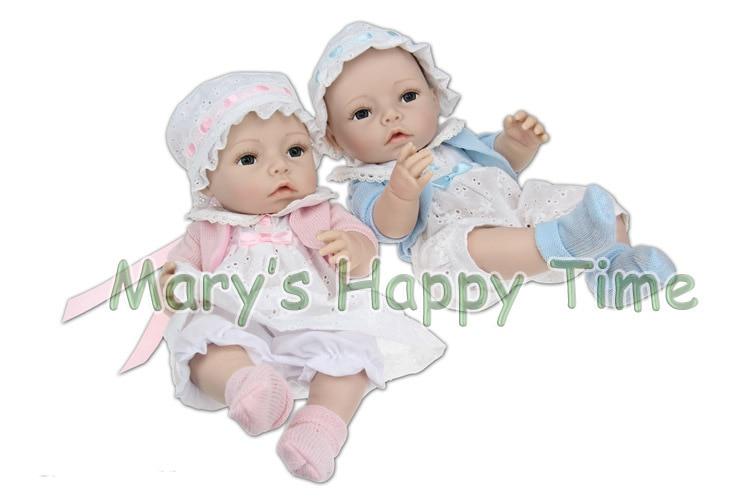 ФОТО 40cm All Silicone Reborn Baby Dolls Handmade Kids Hobbies Baby Reborn Doll Brinquedos Toy Doll