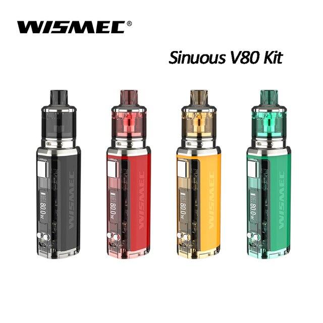 100% Оригинальные Wismec извилистые V80 Amor NSE комплект извилистые V80 поле MOD 3 мл Amor NSE бак жидкостью Vape Создано 18650 Батарея