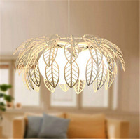 Modern Brief White Iron Hollow Out Coconut Palm Leaf Pendent Lamp Dining Room Bedroom Bar Pendent