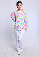 Autumn Women S Hospital Medical Scrub Top Uniform Long Sleeve V Neck Design Free Shipping