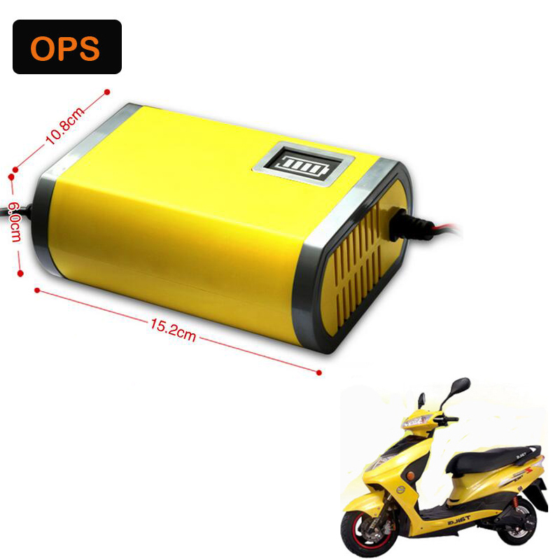 OPS Hot Portable Intelligent 12V6A Car/Auto/Lead acid/Motorcycle Battery Charger with EU Plug 12V Voltage lead acid Battery