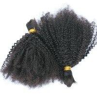 100% Humain Tressage de Cheveux En Vrac Sans Trame 4B 4C Afro Crépus bouclés Brésiliens Vierge de Cheveux Humains Pour Tressage Miel Reine Cheveux Produits