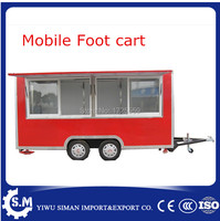 Hot sale street vending cart can customized mobile foot truck cart chinese mobile food trailer cart