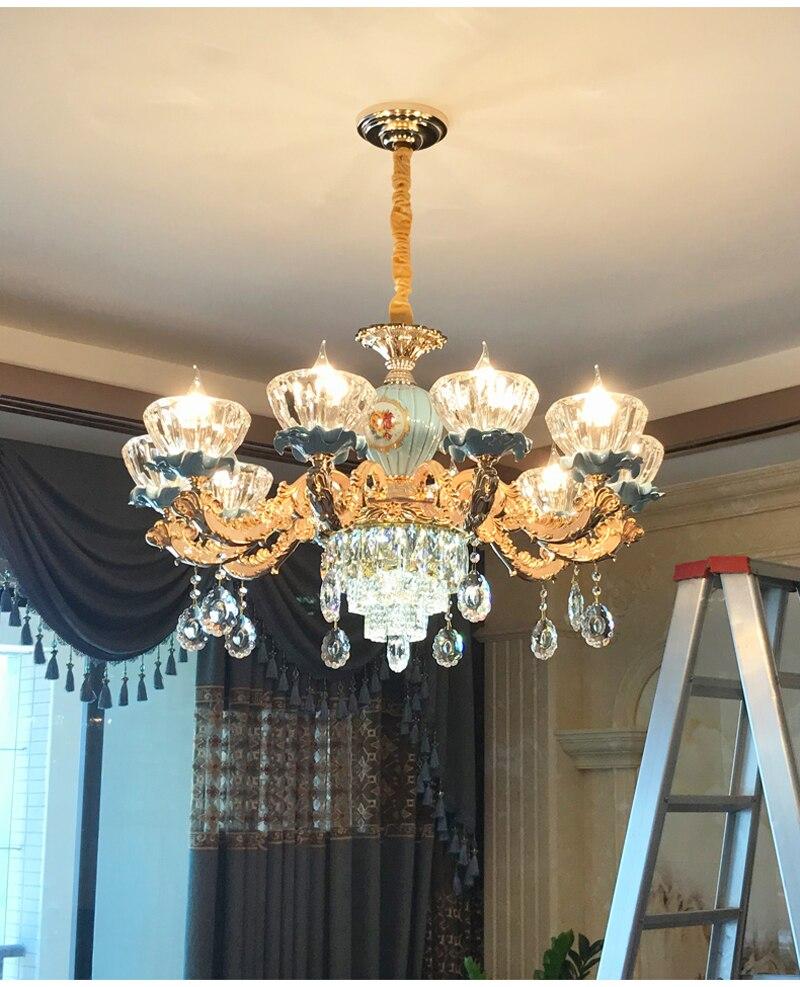 clássico lustre de cristal luminárias quarto lâmpada