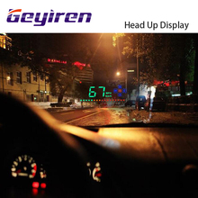2017 Arrivals HUD car GEYIREN A2 3.5 inch Head Up Display Speedometer Overspeed GPS Satellite Windshield Projector Car-styling