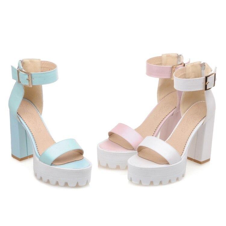 ФОТО Ladies Shoes fashion Gladiator Sandals Women Plus Big Size 34- 43 Open Toe Sandals Ladies Lady Shoes High Heel Women Pumps A22